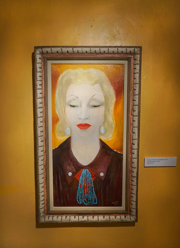 A portrait of Millicent Rogers at the Millicent Rogers Museum in Taos, New Mexico - Photo by Hideaway Report editor