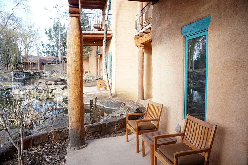 The patio of our Native American Suite at El Monte Sagrado