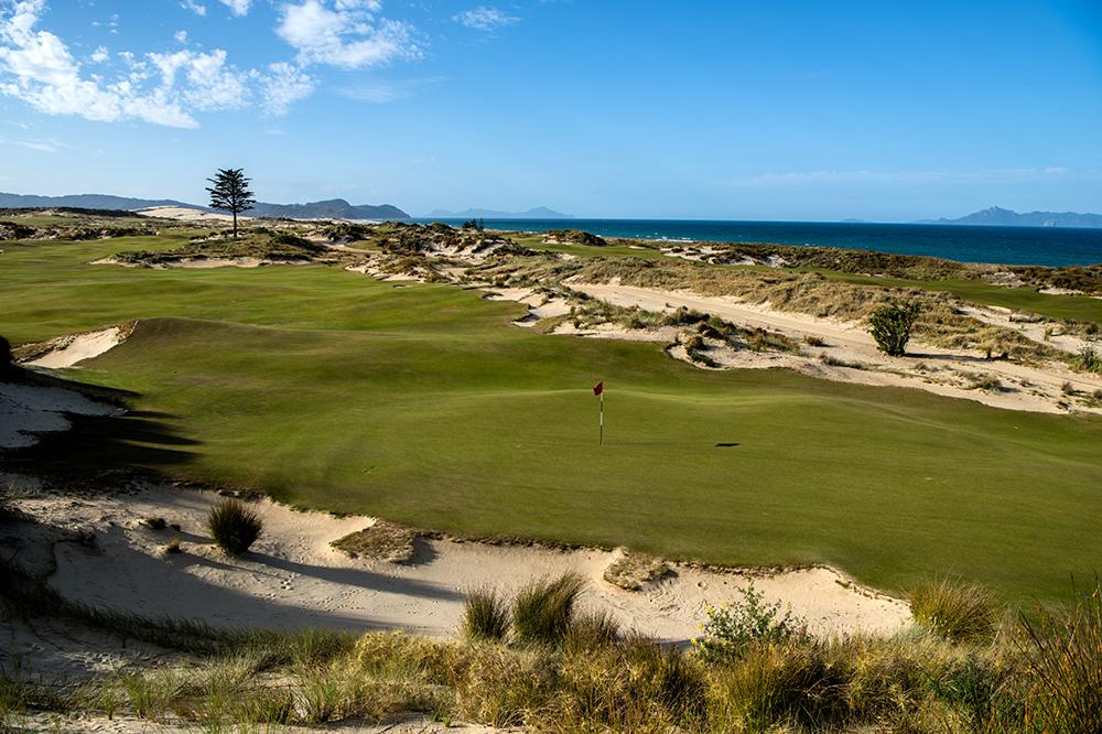 A hole on the Tara Iti golf course near Mangawhai, New Zealand