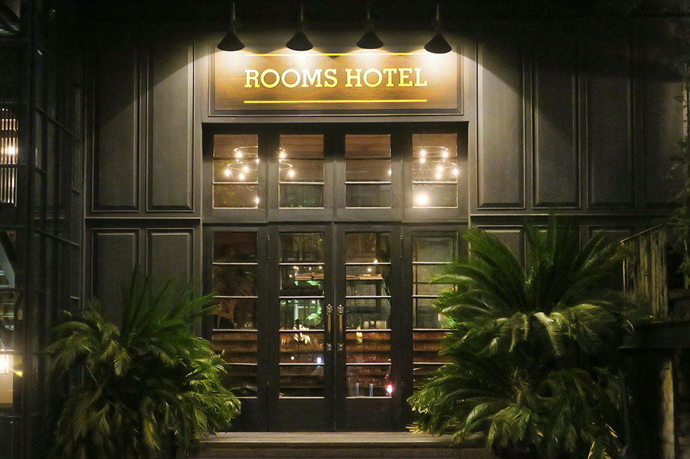 The entrance to Rooms Hotel Tbilisi