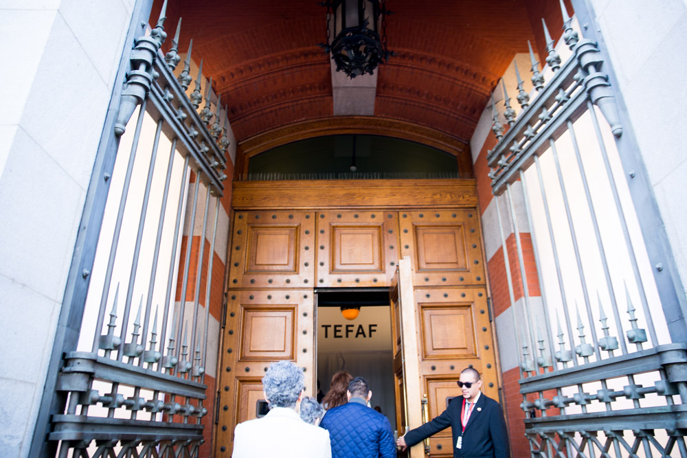 The doors of the Park Avenue Armory in New York City that lead to TEFAF