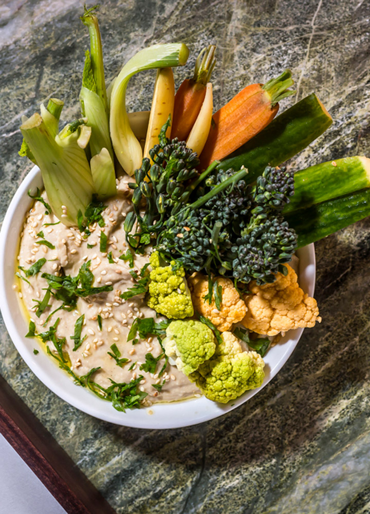 Hummus and seasonal crudité at <em>The Campbell</em> in New York City - Gerber Group