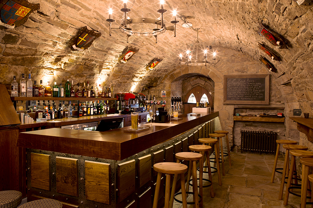 <em>The Crypt</em> pub at Lord Crewe Arms in Northumberland, England