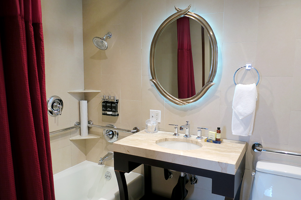 The bath of our Renaissance Suite at The Heathman Hotel in Portland, Oregon - Photo by Hideaway Report editor