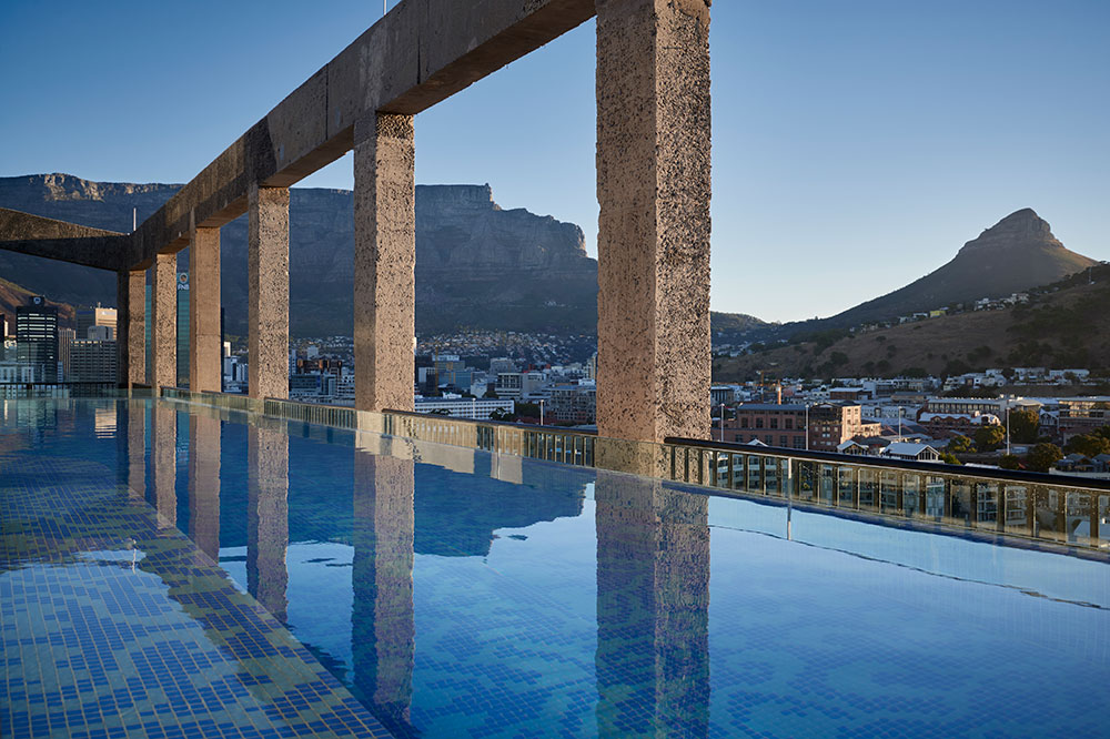 The rooftop pool at The Silo