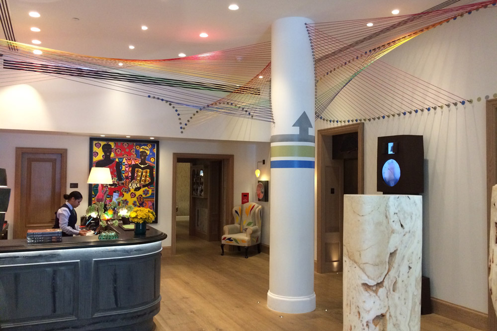 The lobby of The Whitby Hotel