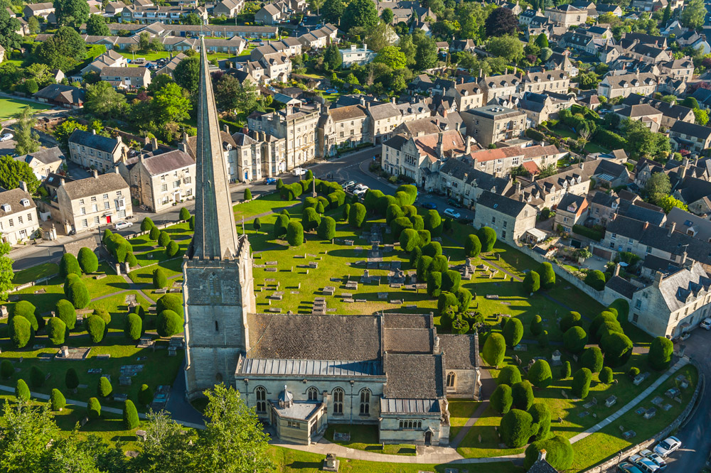 An aerial view of the village of Painswick, England - fotovoyager/Getty Images