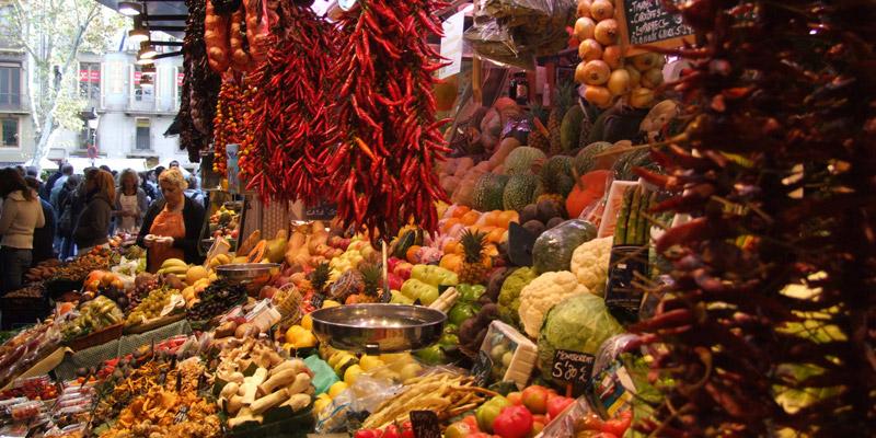 La Rambla open-air market