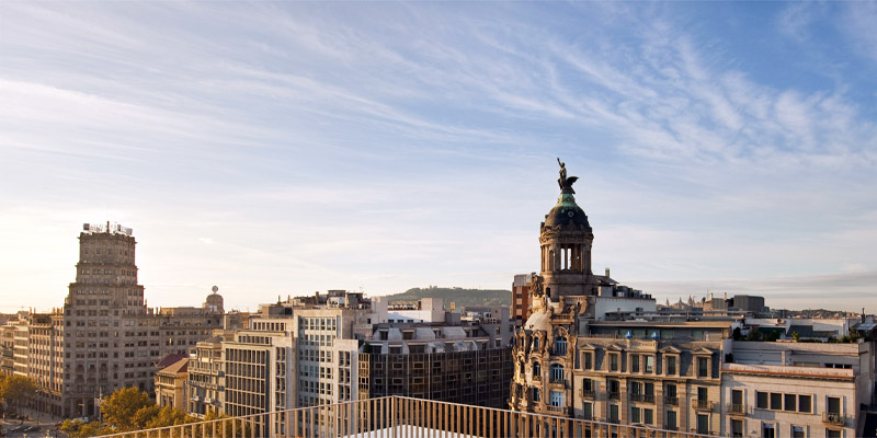 View from the terrace at Mandarin Oriental Barcelona.