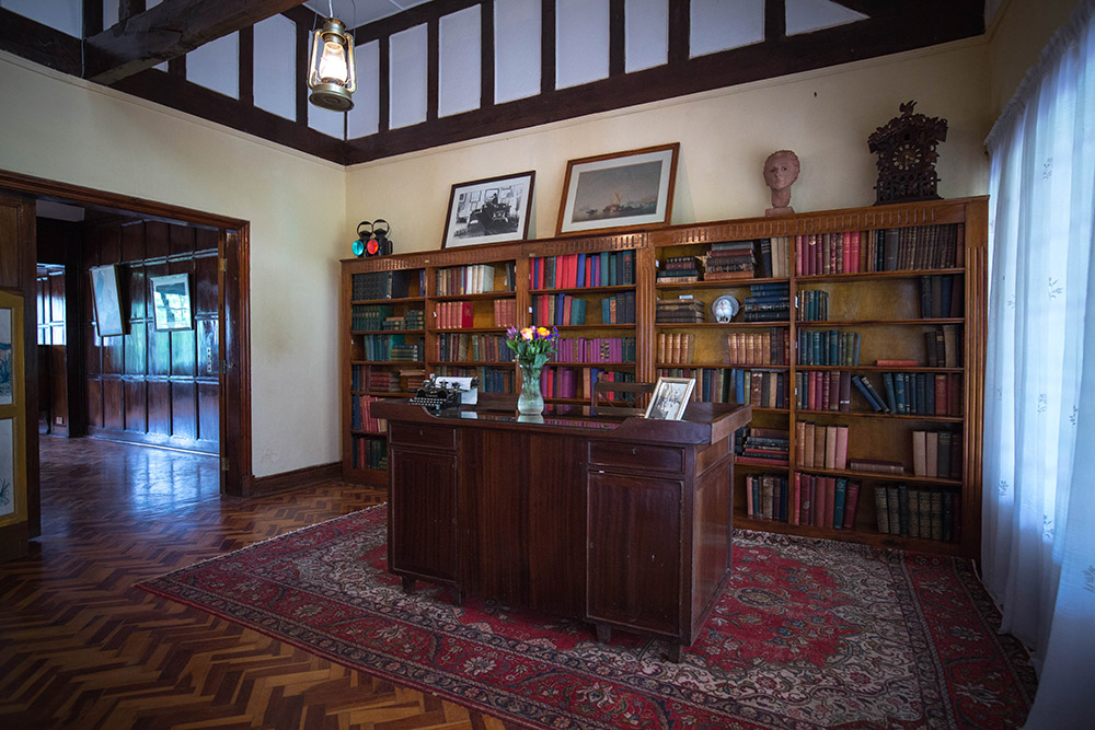 The living room and library of the Karen Blixen Museum