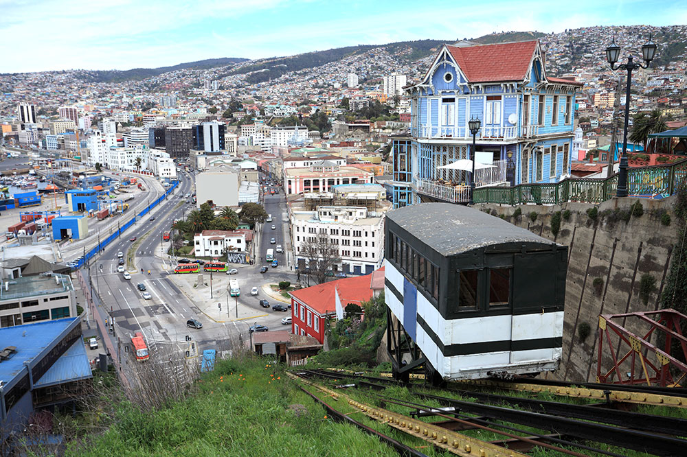 Valparaíso's famous funiculars
