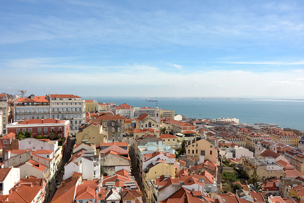 The view from Verride Palácio Santa Catarina in Lisbon, Portugal - Photo by Hideaway Report editor
