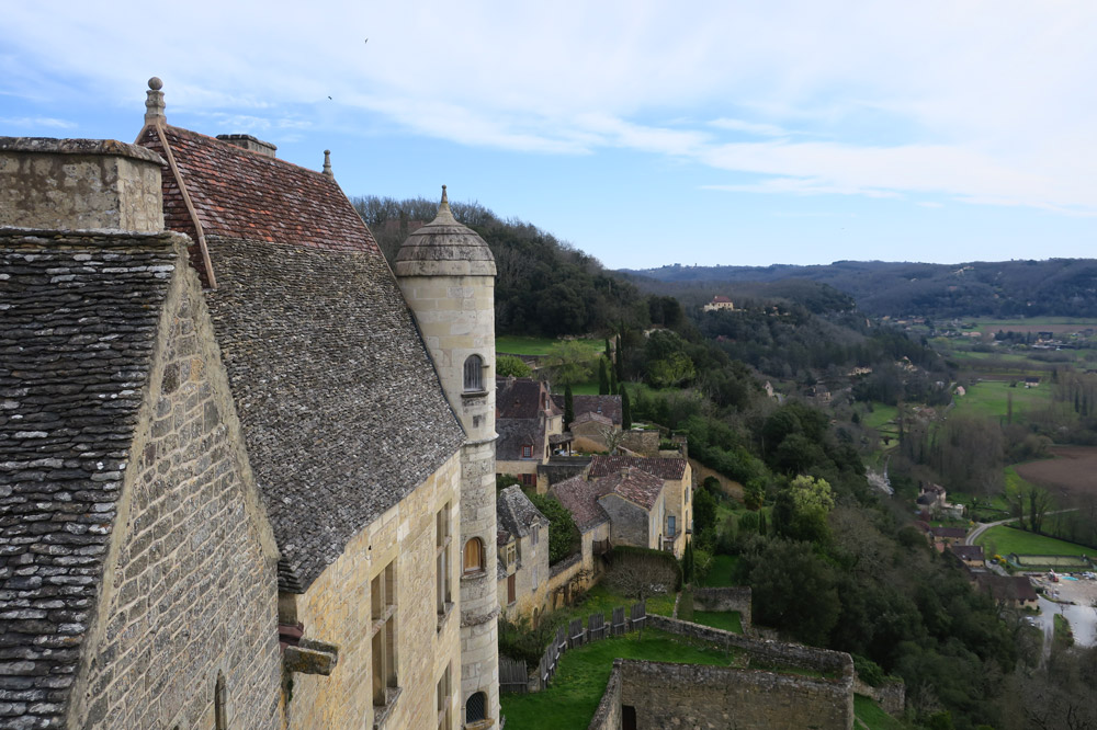 The view from the terrace of Château de Beynac in the Dordogne, France - Photo by Hideaway Report editor