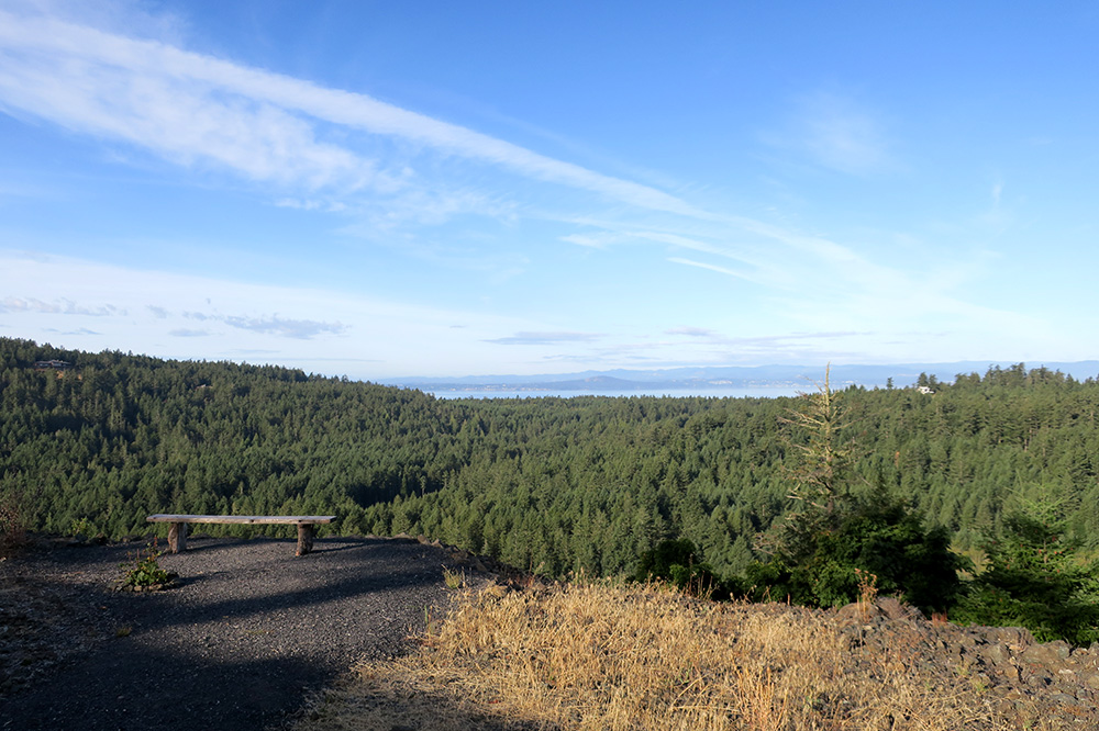 The view from the top of Mount Grant at Mount Grant Preserve on San Juan Island, Washington
