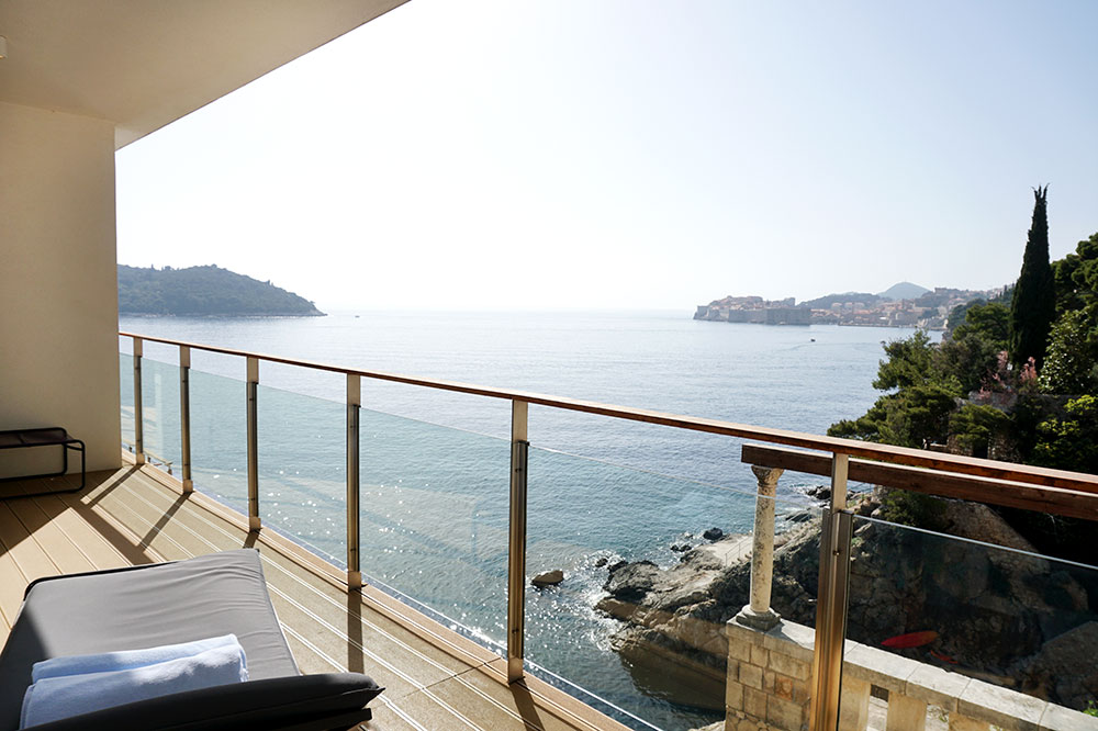 The view from the terrace of our Standard Suite at Villa Dubrovnik
