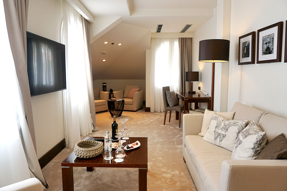 The living area of our Deluxe Suite at Villa Orsula