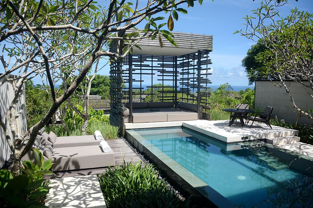 The pool of our villa at Alila Villas Uluwatu