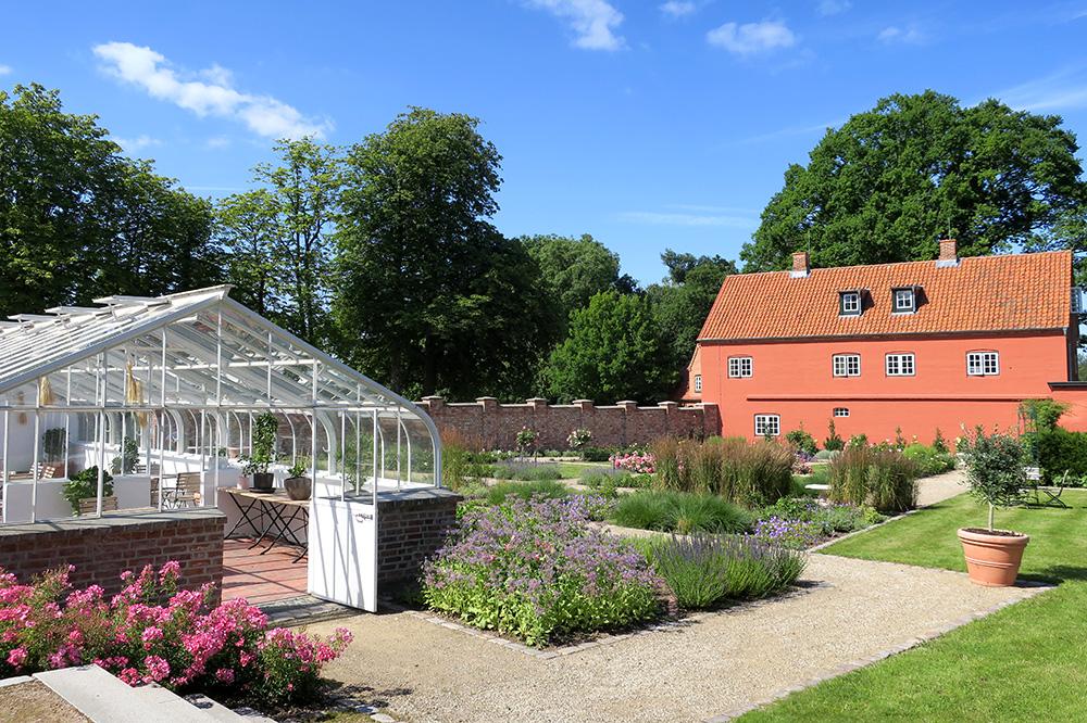 The greenhouse in the rose garden at Weissenhaus Grand Village Resort in Weissenhaus, Germany