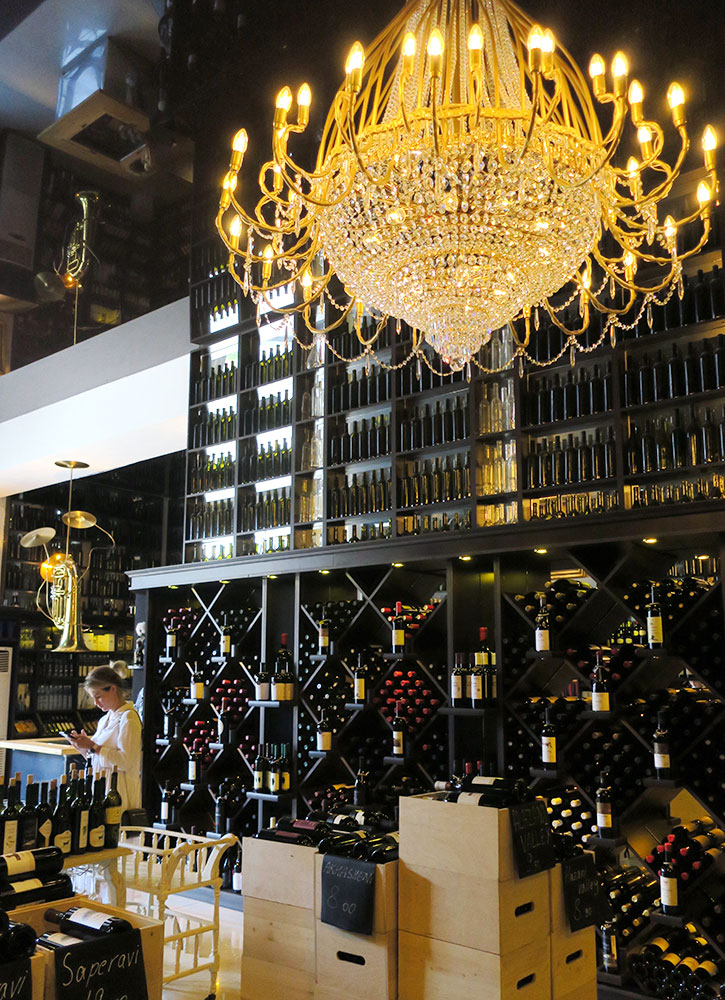 Bottles of wine at the Wine Gallery in Tbilisi, Georgia - Photo by Hideaway Report editor