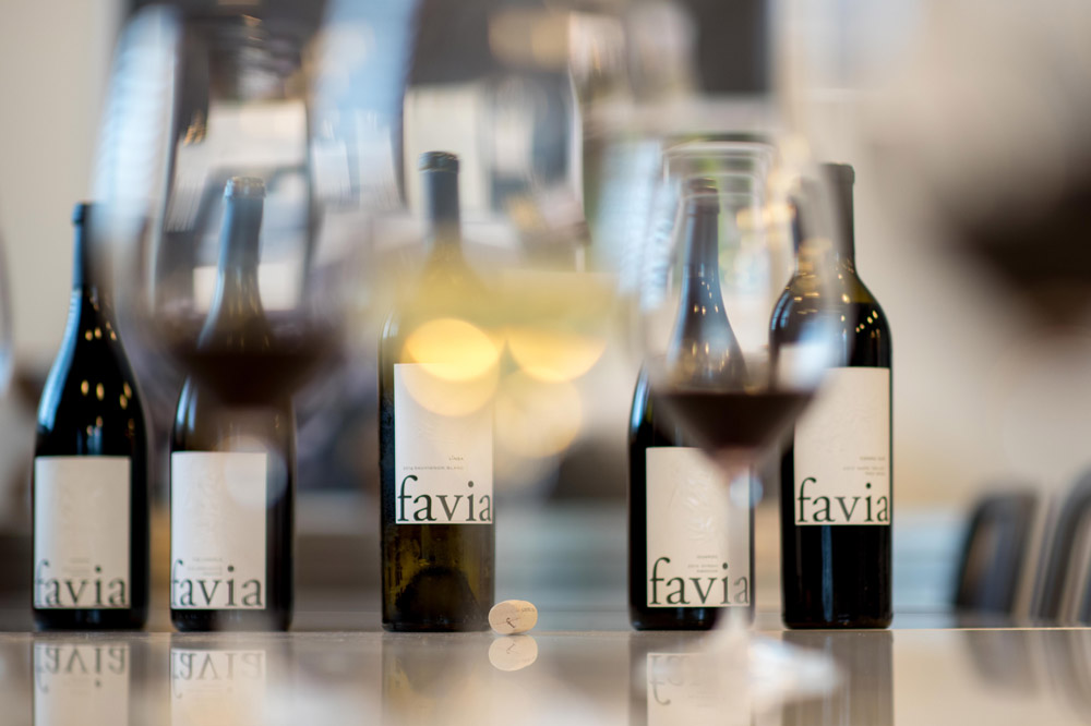 A selection of cabernets available at Favia in Napa Valley California - Jimmy B Hayes