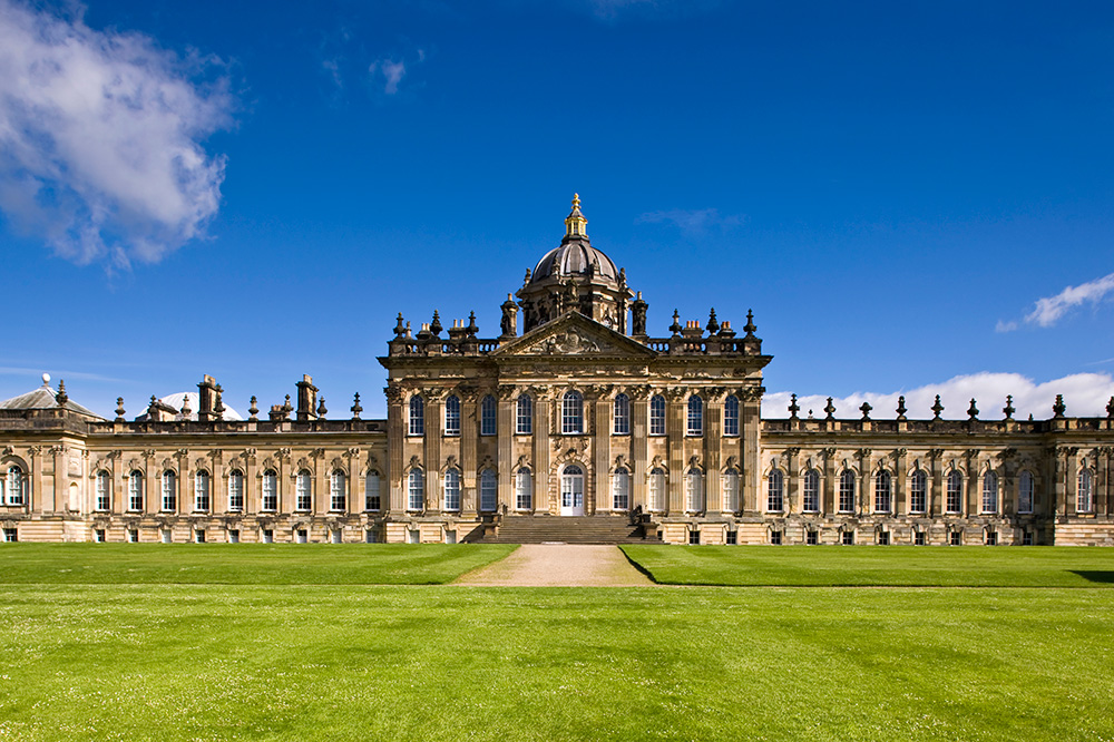 The exterior of Castle Howard in North Yorkshire, England