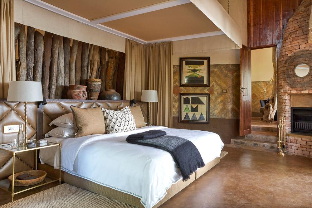 Bedroom of a new suite at Singita Pamushana Lodge